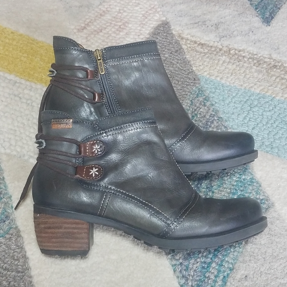 PIKOLINOS Shoes - Pikolinos Le Mans Leather Ankle Boots Booties 38